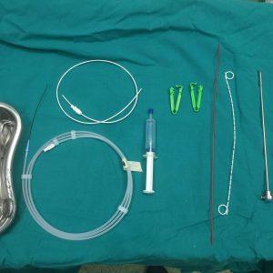 Χειρουργικό τραπέζι με τα απαραίτητα Κυστεοσκόπιο και Pig Tail